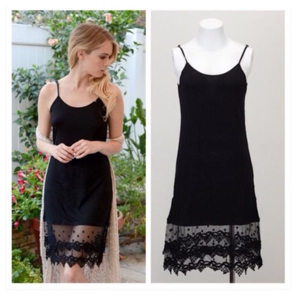 d8e7a30f9e1d Dresses | Black Lace Skirt Extender Slip | Poshmark
