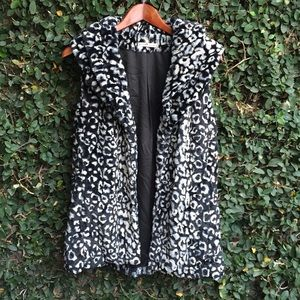 Alice + Olivia Faux Fur Jacket Vest