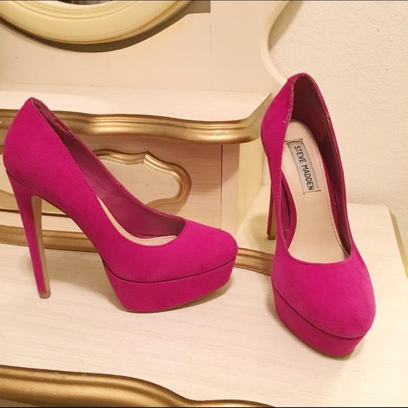Steve Madden Pink 6 inch heels