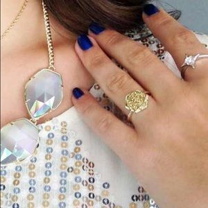 Kendra Scott Kylie Gold Druzy Ring