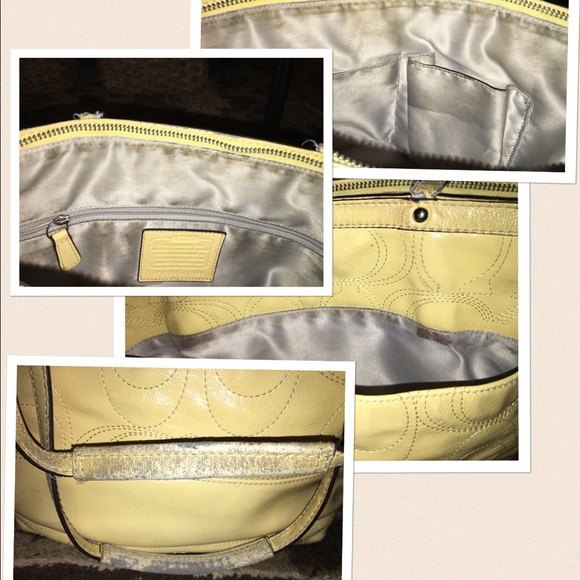 97 off coach handbags coach crinkle patent leather