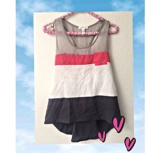 Ambiance Apparel Tops - Tri Color Sleeveless top