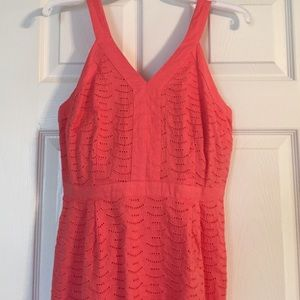 bb05b135cf4 Old Navy Dresses - NWOT Juniors Old Navy Coral Eyelet Dress