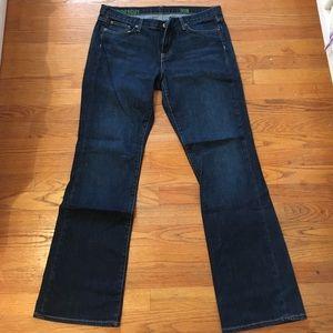 JCrew dark indigo boot cut jeans