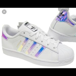 best sneakers 8c21e 7f8f9 Adidas Shoes - ISO ADIDAS SUPERSTAR HOLOGRAPHIC STRIPES SIZE 6