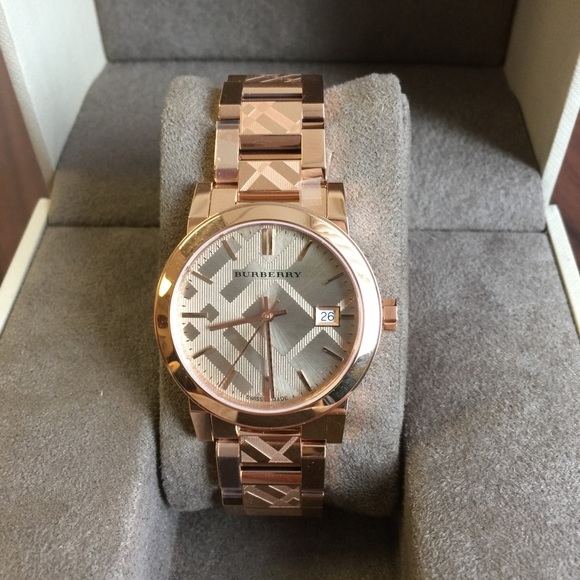 37 off burberry accessories women 39 s burberry watch model bu9146 from brock 39 s closet on poshmark for Burberry watches