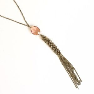 🎉Sale🎉 H&M long pink and gold pendant necklace