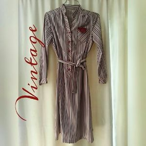 Vintage striped dress 1960s or 1970s