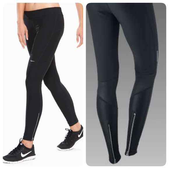 nike running pants with zipper