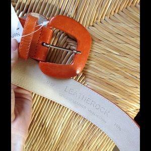 Nordstrom Accessories - [Nordstrom] Leartherock Orange Wide Bohemian Belt