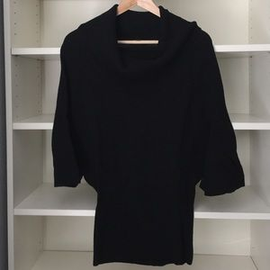 Black express cowl neck sweater