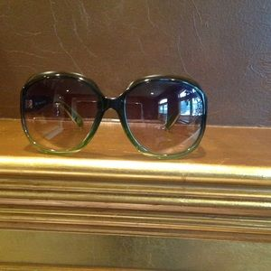 Green Authentic CHLOE sunglasses.