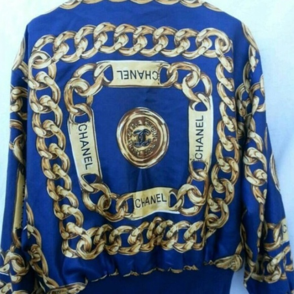 50% off CHANEL Jackets & Blazers - Authentic vintage Chanel bomber ...