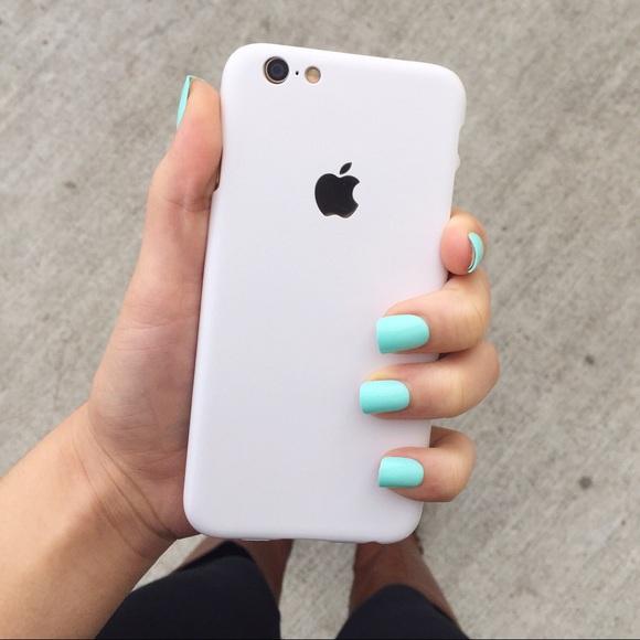 911368b138c4 white Apple logo iPhone 6 6s phone case