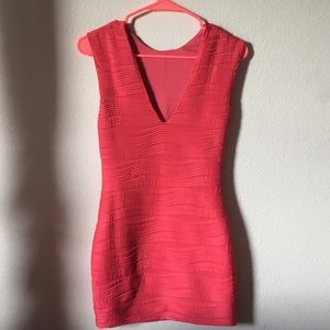 LF Red Bodycon Dress
