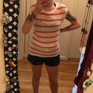 Old Navy Loose Knit Stripe Sleeveless Sweater