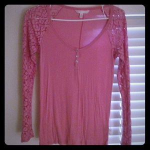 VICTORIA'S SECRET Henley with Lace Sleeves