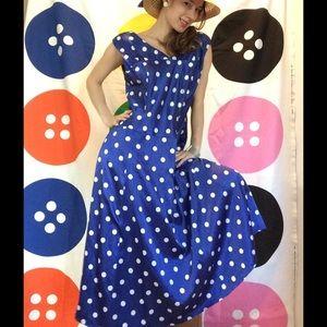 Pendleton Silk Cotton Polka Dot Fancy Races Dress