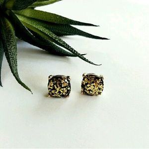 Jewelry - GUM DROP | Dark Gold Glitter Earrings