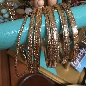 Macy's Jewelry - Gold bangles set