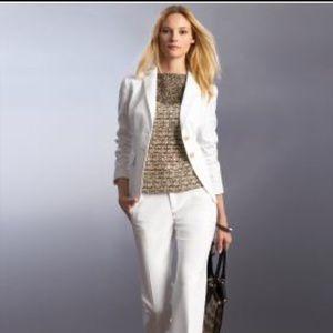Banana Republic Jackets & Coats - Banana Republic White Sateen Blazer Sz 8