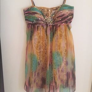 Multicolored one of a kind party dress