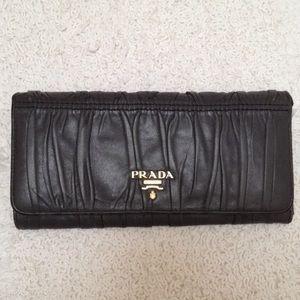 prada tessuto saffiano - 65% off Prada Handbags - Prada Nappa Gaufre Leather Wallet in ...