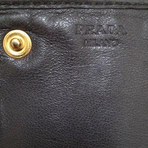 59% off Prada Handbags - Prada Nappa Gaufre Leather Wallet in ...