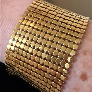 DKNY Goldtone Mesh Bracelet