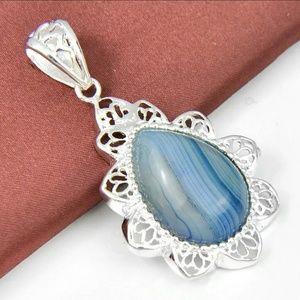 Jewelry - Tear Drop Agate Pendant
