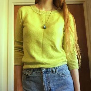 Gap Yellow Green Sweater