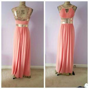 Calvin Klein Dresses Prom Or Evening Gown Dress In Peach Poshmark