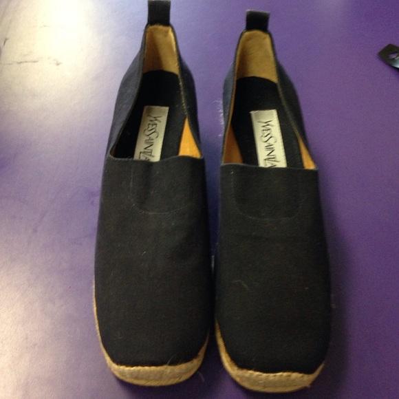 50bfc18b2 Yves Saint Laurent Shoes | Authentic Ysl Espadrilles Sz 377 Cute ...