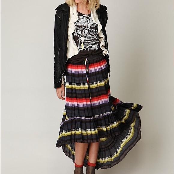 bf38f2ba9c Free People Skirts | Multicolor Crinkle Pleated Skirt | Poshmark