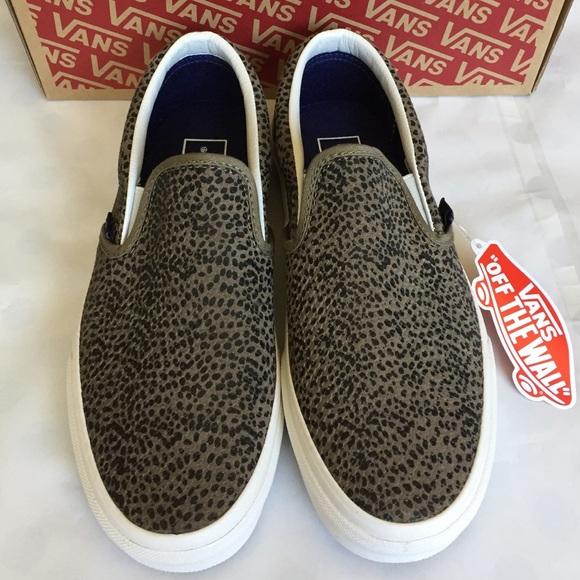 0e1c6b4d9b1b Vans Shoes   Nwb Cheetah Suede Slipon Sneakers   Poshmark
