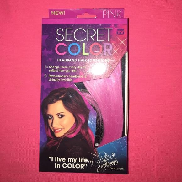 Accessories Secret Color Headband Hair Extensions Pink Poshmark