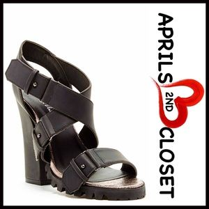 Michael Antonio Shoes - SANDALS Chunky Heel Ankle Strap