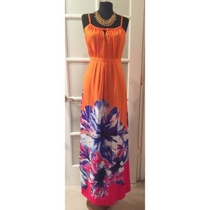 Dresses & Skirts - Orange Maxi Dress Size 8