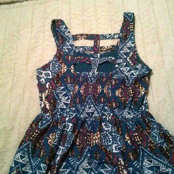Xhilaration Dresses - Xhilaration Strappy Back Tribal Dress