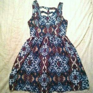 Xhilaration Dresses - Xhilaration Strappy Back Tribal Dress