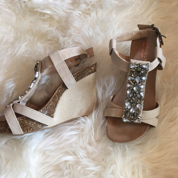 2c4242ee719a Carvela Kurt Geiger Shoes - NWOT Kurt Geiger Carvela crystal wedge heels
