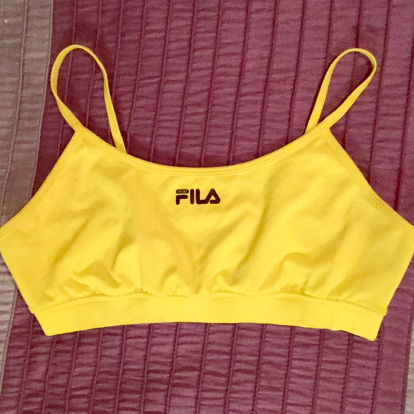 yellow sports bra top