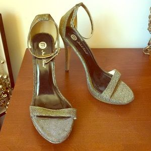 Michael Antonio glitter dress sandals