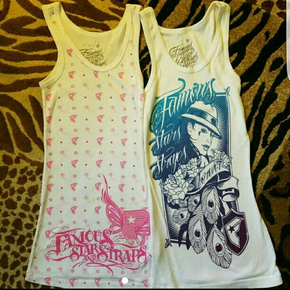2 Famous Stars And Straps Tanks