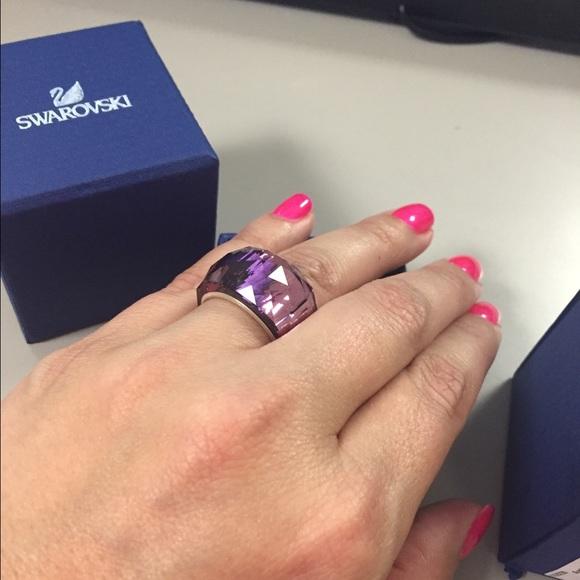 c7e3f7d73c11 Swarovski nirvana ring size 58 purple