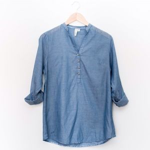 Tops - Lightweight Denim Blue Top