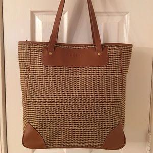 Ghurka Handbags - 🎉HP Amazing GHURKA Houndstooth Leather Trim Tote