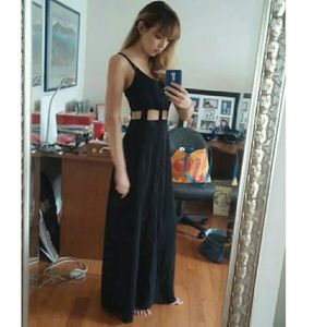 Urban outfitters black maxi dress