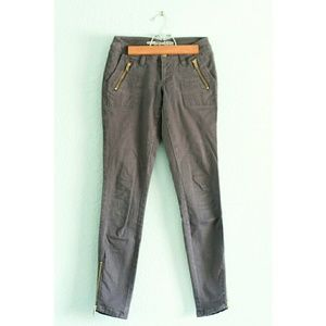 Old Navy (Petite) | Ankle-Zip Cotton Pants