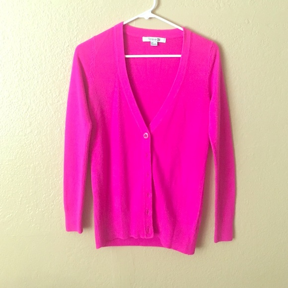 48% off Forever 21 Sweaters - Hot pink cardigan!! Perfect for ...